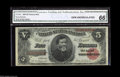 Large Size:Treasury Notes, Fr. 364 $5 1891 Treasury Note CGA Gem Uncirculated 66. A beautifully margined example of a Five Dollar Treasury note. The ma...