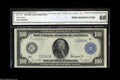 Large Size:Federal Reserve Notes, Fr. 1119 $100 1914 Federal Reserve Note CGA Gem Uncirculated 68. One of only eight examples known, and the only uncirculated...