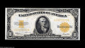 Large Size:Gold Certificates, Fr. 1173 $10 1922 Gold Certificate Gem New. Incredible margins forthis series, along with beautifully bright colors and dee...