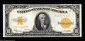 Large Size:Gold Certificates, Fr. 1173 $10 1922 Gold Certificate Very Choice New. But for a tighttop margin, this $10 Gold is perfection! The colors are ...