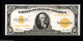 Large Size:Gold Certificates, Fr. 1173 $10 1922 Gold Certificate Choice About New. The very lightest of center folds holds this Ten Dollar Gold from the C...