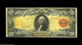 Large Size:Gold Certificates, Fr. 1179 $20 1905 Gold Certificate Fine. The colors on the face arebeautiful on this well margined Technicolor $20. The bac...