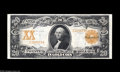 Large Size:Gold Certificates, Fr. 1184 $20 1906 Gold Certificate Extremely Fine. Fewer than 40examples of the Napier-Thompson signature combination are k...