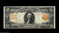 Large Size:Gold Certificates, Fr. 1186 $20 1906 Gold Certificate Choice Extremely Fine. A realbeauty, with perfect paper color, brilliant inks and strict...