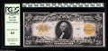 Large Size:Gold Certificates, Fr. 1187 $20 1922 Gold Certificate PCGS Very Choice New 64. ThisGold $20 resides in a PCGS holder, and had the centering be...