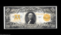 Large Size:Gold Certificates, Fr. 1187 $20 1922 Gold Certificate Very Choice New. A perfect Gemin every respect save for the bottom face margin, which is...