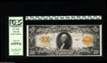 Large Size:Gold Certificates, Fr. 1187 $20 1922 Gold Certificate PCGS Choice New 63PPQ. The bold embossing of the third print is evident even through the ...
