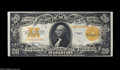 Large Size:Gold Certificates, Fr. 1187 $20 1922 Gold Certificate Choice New. Very tight along thebottom, but fresh and original, with excellent color and...