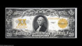 Large Size:Gold Certificates, Fr. 1187 $20 1922 Gold Certificate About New. Extremely close margins at the left and bottom limit the value to that of an X...