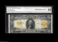 Large Size:Gold Certificates, Fr. 1187 $20 1922 Gold Certificate CGA Gem Uncirculated 65. Thecolors of this Gold Twenty are simply as bright as they get ...