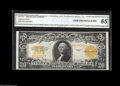 Large Size:Gold Certificates, Fr. 1187 $20 1922 Gold Certificate CGA Gem Uncirculated 65.Consecutive to the above note, with the same beautiful paper-and...