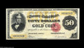 Large Size:Gold Certificates, Fr. 1197 $50 1882 Gold Certificate Choice About New. A gorgeouspiece with the original surfaces, perfect colors and eye app...