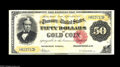 Large Size:Gold Certificates, Fr. 1197 $50 1882 Gold Certificate Very Fine-ExtremelyFine.Although about 150 or so of this number are known, most arelowe...