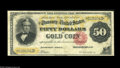 Large Size:Gold Certificates, Fr. 1197 $50 1882 Gold Certificate Fine-Very Fine. A very wellmargined example, with excellent color and no problems save f...
