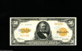 Large Size:Gold Certificates, Fr. 1200a $50 1922 Gold Certificate Extremely Fine. A simplygorgeous, problem-free Gold note with the scarce small serial n...
