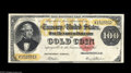 Large Size:Gold Certificates, Fr. 1211 $100 1882 Gold Certificate Choice Very Fine. This is awell margined, wholly original, solid example of a note that...