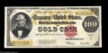 Large Size:Gold Certificates, Fr. 1215 $100 1922 Gold Certificate Very Fine+. A well centered$100 Gold that borders on Extremely Fine and will likely sel...