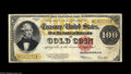 Large Size:Gold Certificates, Fr. 1215 $100 1922 Gold Certificate Very Fine. A flawless exampleof the grade, with perfect paper color, bright ink and unm...