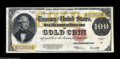 Large Size:Gold Certificates, Fr. 1215 $100 1922 Gold Certificate Very Fine. A nicely margined Gold Certificate with a back that still retains the bright ...