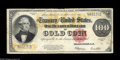 Large Size:Gold Certificates, Fr. 1215 $100 1922 Gold Certificate Very Good-Fine. The back is a bit faded and there is some roughness at the top margin, b...
