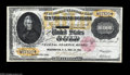 Large Size:Gold Certificates, Fr. 1225 $10000 1900 Gold Certificate New. A strictly uncirculated example of this ultra-high denomination non-redeemable Go...