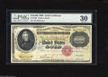 Large Size:Gold Certificates, Fr. 1225 $10000 1900 Gold Certificate PMG Very Fine 30. This evenlycirculated (and of course non-negotiable) Gold Certifica...