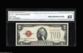 Small Size:Legal Tender Notes, Fr. 1507* $2 1928F Legal Tender Note. CGA Gem Uncirculated 65. This star deuce should see some high spirited bidding for th...
