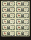Small Size:Legal Tender Notes, Fr. 1508 $2 1928G Legal Tender Notes Uncut Sheet of 12. Gem Crisp Uncirculated. Another exceptionally well preserved sheet ...