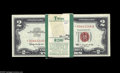 Small Size:Legal Tender Notes, Fr. 1513 $2 1963 Legal Tender Notes. Pack of 100. Gem Crisp Uncirculated. A pack of 100 notes, starting with a star and con...