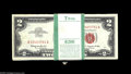 Small Size:Legal Tender Notes, Fr. 1513 $2 1963 Legal Tender Notes. Original Pack of 100. Crisp Uncirculated. The left-hand edge displays the results of a... (100 notes)