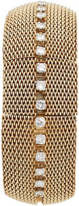 Estate Jewelry:Watches, Swiss Lady's Diamond, Gold Covered Dial Bracelet Watch. ...