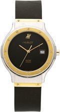 Estate Jewelry:Watches, Hublot Gentleman's Gold, Stainless Steel MDM Watch. ...