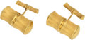 Estate Jewelry:Cufflinks, Gold Cuff Links . ...