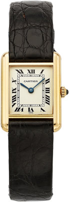Cartier Lady's Gold Tank Watch, French