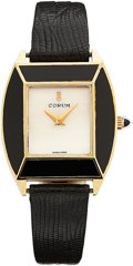 Estate Jewelry:Watches, Corum Lady's Black Onyx, Mother-of-Pearl, Gold Watch. ...