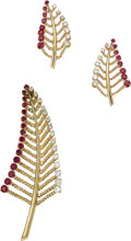 Estate Jewelry:Suites, Diamond, Ruby, Gold Jewelry Suite. ... (Total: 2 Items)