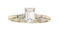 Estate Jewelry:Rings, Diamond, White Gold Ring The ring features an ...