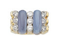 Estate Jewelry:Rings, Diamond, Agate, Gold Ring, Carvin French. ...