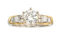Estate Jewelry:Rings, Diamond, Platinum, Gold Ring . ...