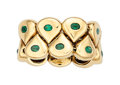 Estate Jewelry:Rings, Emerald, Gold Ring, Chaumet, French. ...