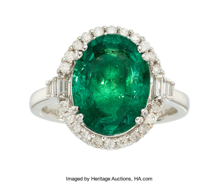 pin stone via ring vintage etsy estate emerald jewelry three