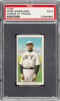 Baseball Cards:Singles (Pre-1930), 1909-11 T206 Sweet Caporal Rube Marquard (Hands at Thighs)...