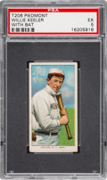 Baseball Cards:Singles (Pre-1930), 1909-11 T206 Piedmont Willie Keeler (With Bat) PSA EX 5....