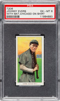 Baseball Cards:Singles (Pre-1930), 1909-11 T206 Sovereign Johnny Evers (With Bat-Chicago) PSA EX-MT 6....