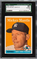 Baseball Cards:Singles (1950-1959), 1958 Topps Mickey Mantle #150 SGC 80 EX/NM 6. Offe...