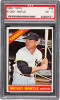 Baseball Cards:Singles (1960-1969), 1966 Topps Mickey Mantle #50 PSA NM 7. Offered is ...