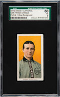 Baseball Cards:Singles (Pre-1930), 1909-11 T206 Sweet Caporal Frank Chance (Yellow Portrait) SGC 60 EX5....