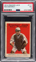 Baseball Cards:Singles (Pre-1930), 1914 Cracker Jack Ted Easterly #117 PSA VG 3. Grad...
