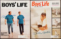 Autographs:Others, Mickey Mantle Signed Boys' Life Magazine Lot of 2.. ...
