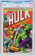 Bronze Age (1970-1979):Superhero, The Incredible Hulk #181 (Marvel, 1974) CGC VF- 7.5 White pages....